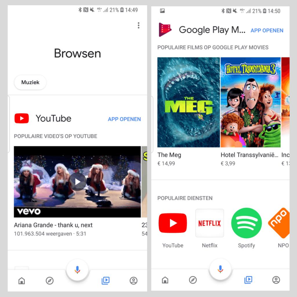 De Google Home app